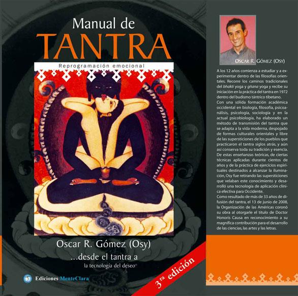 Tapa de la tercera edición del  Manual de Tantra de Oscar R. Gómez (Osy)