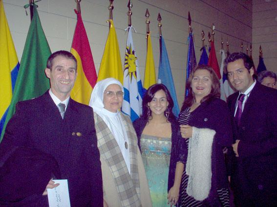 Osy y Rocío en la entrega de los premios Sapientiae 2008